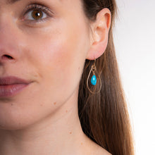 Load image into Gallery viewer, Turquoise Teardrop Earrings