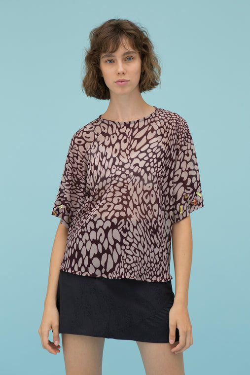 BARBARY LEOPARD BLOUSE