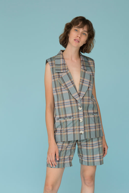 GRIFFIN PLAID VEST