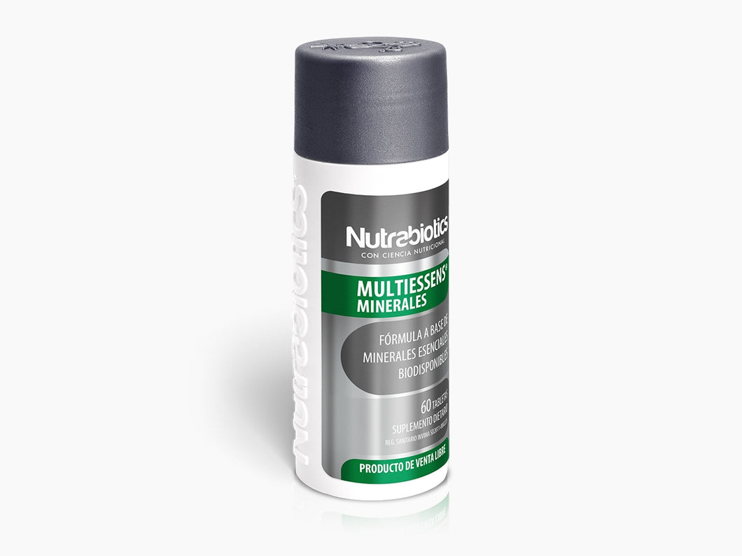 Multiessens Minerales - Nutrabiotics - 60 Tabletas - Botiqui