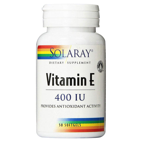 Vitamina E - Solaray - 50 Comprimidos - Botiqui