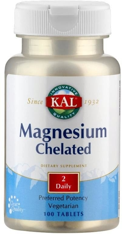 Magnesio Chelated - Kal - 100 Tabletas - Botiqui