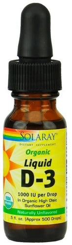 Vitamina 1000IU Liquid D3 - Solaray - 5ml - Botiqui