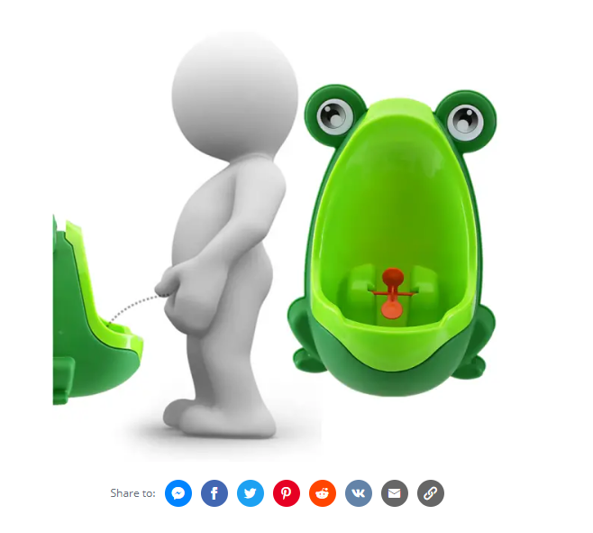 Lovely Frog Kid's Potty Removable Toilet Training Kids  Early Learning Boys Pee Trainer.