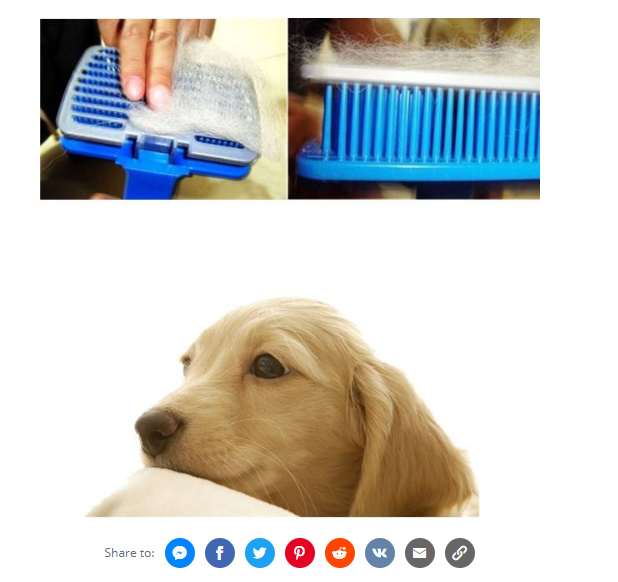 Pet Dog Cat Hair Fur Shedding Trimmer Grooming Rake Comb Brush - S
