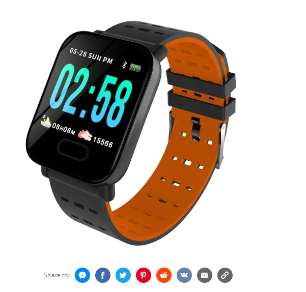 Bakeey M20 1.3' Big Screen Real Time HR Blood Oxygen Pressure Monitor  Sport Smart Watch
