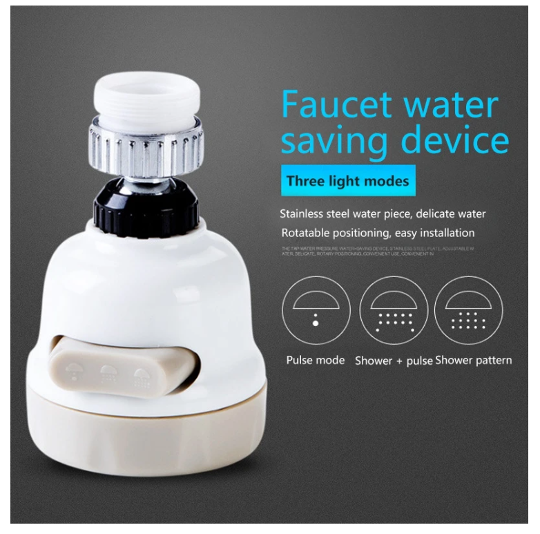 Rotary Faucet Booster Water Filter Device