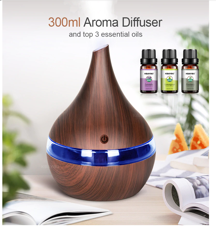 300ml USB Ultrasonic Aromatherapy Diffuser cool mist