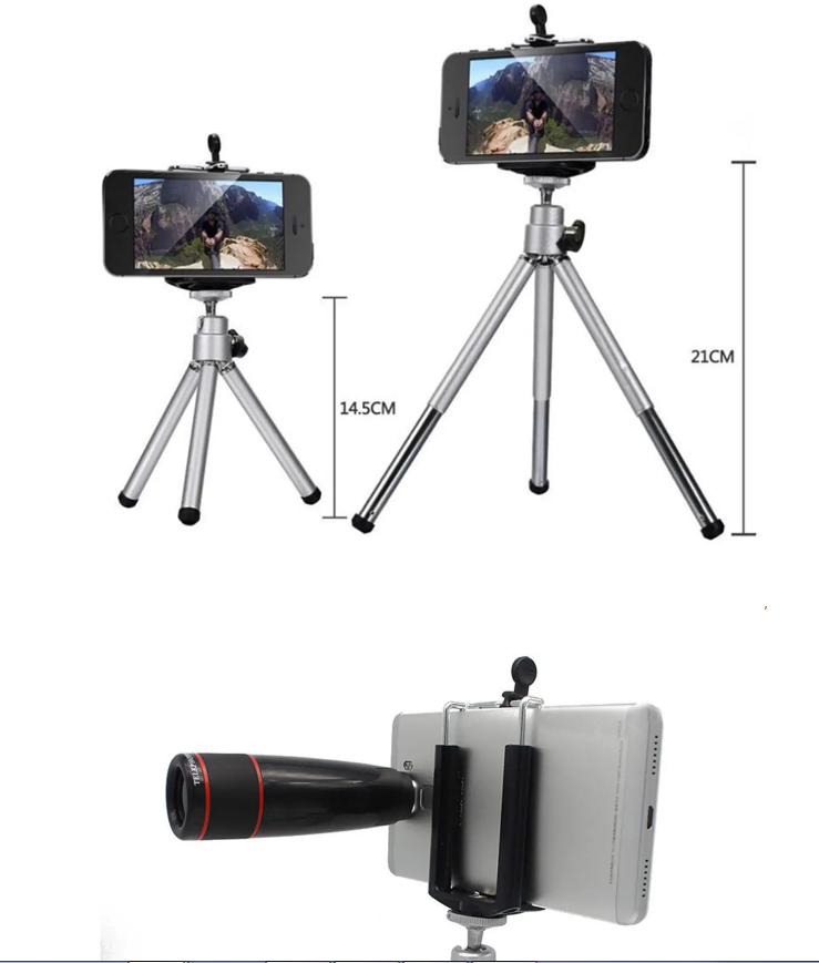 Smartphone Camera Lens Cell with Clip Universal Optical Telescope Kit