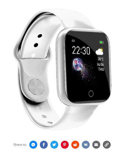 Bakeey Smart Watch with Continuous Heart Rate Monitor. Black and White