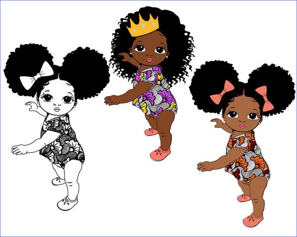 Big sis Little sis, Cute black African American kids  CricuT, African American clipart, Graduation Svg