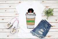Melanin coffee,Afro queen, black power, Black woman svg, black girl svg, black queen svg, thick women svg, curvy svg, svg, thick girls