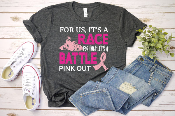 Breast cancer svg Tackle cancer svg Pink ribbon svg race car svg Cancer Svg Awareness ribbon svg Cricut Design