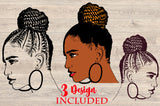 Woman face svg, Afro queen, black power, Black woman svg, black girl svg, black queen svg, thick women svg, curvy svg, svg, thick girls