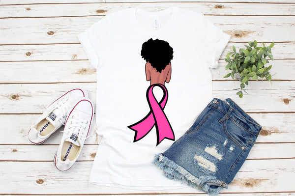 Survivor svg, Pink Ribbon svg, FIGHT SVG African American africa png dxf eps jpeg png black, cancer svg, breast cancer svg, woman svg
