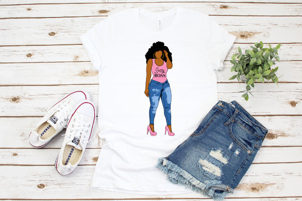 Fashion girl clipart, Curvy girl clipart, Denim girl clipart, African American clipart, black power, Black woman svg, black girl svg