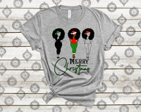 Merry christmas dripping SVG PNG Kinky Natural Hair Afro Christmas Cutting File for Cricut, dripping, black Christmas