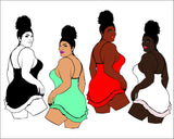 Woman Bundle svg, Afro queen, black power, Black woman svg, black girl svg, black queen svg, thick women svg, curvy svg, svg, thick girls