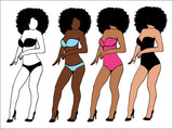 Afro queen, bitches, Black woman svg, black girl svg, black queen svg, thick women svg, curvy svg, svg, dxf, thick girls