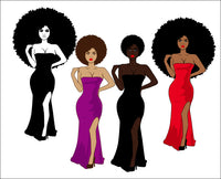 sexy dress, Woman Bundle svg, Afro queen, black power, Black woman svg, black girl svg, black queen svg, thick women svg, curvy svg, svg, thick girls