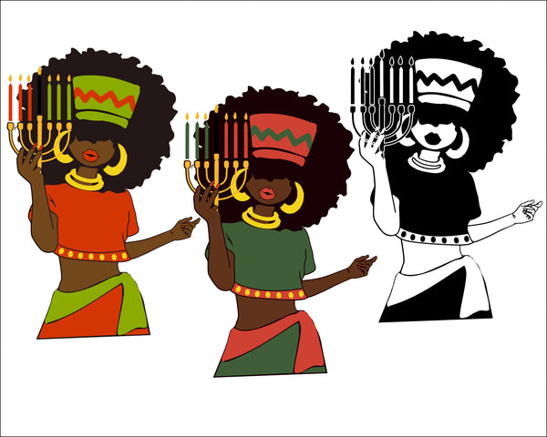 Woman Bundle svg, Afro queen, happy Kwanzaa, Black woman svg, black girl svg, black queen svg, Kwanzaa, celebration, culture, swahili, black girl magic svg african Magic Poppin Drippin