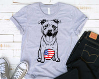 it bull whit tummy USA Flag SVG sublimation merica patriotic belly American 4th of July Dog Bulldogs Pitbull Puppy Breed peekaboo 1778S