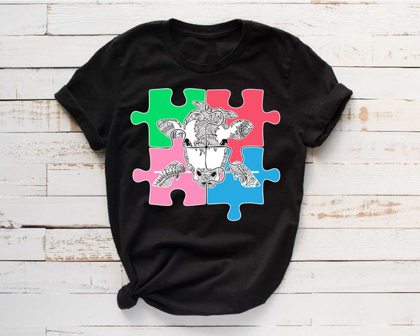 Puzzle Peek-A-Boo Cow Bandana mandala svg Cow zentangle Peeking Heifer Farm Animal svg Farmhouse svg files for Cricut peekaboo