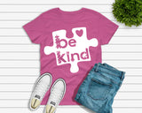 Be Kind Puzzle svg Autism Awareness | In A World Where You Can Be Anything, , dxf, fcm, eps, & png. Autism SVG, Autism Awareness