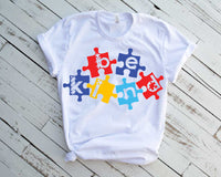Puzzle Autism Awareness | In A World Where You Can Be Anything, Be Kind svg, dxf, fcm, eps, & png Autism Awareness svg, Instant. 1705s
