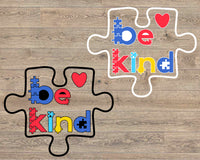 Be Kind Puzzle svg Autism Awareness | In A World Where You Can Be Anything, , dxf, eps, & png. Autism SVG, Autism Awareness