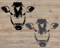 Cow svg, Cow Face svg, Heifer svg, Farm svg, Farm Animal svg, Animal svg, Farmhouse svg, svg files for Cricut, files for Silhouette 1713S