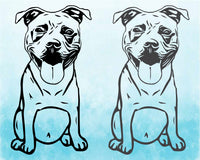 Pit bull SVG dog head Silhouette SVG Cutting Files ClipArt cricut Black Dog Bulldogs Pitbull Puppy Breed peekaboo 1777S