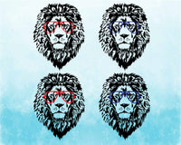 Lion Head whit Aviator Glasses SVG Cutting Files Clip Art cricut cuttable cut layer wild animal african king zoo cat cats 1773S