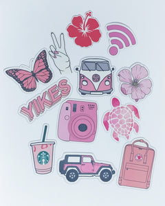 Pink Vsco Stickers