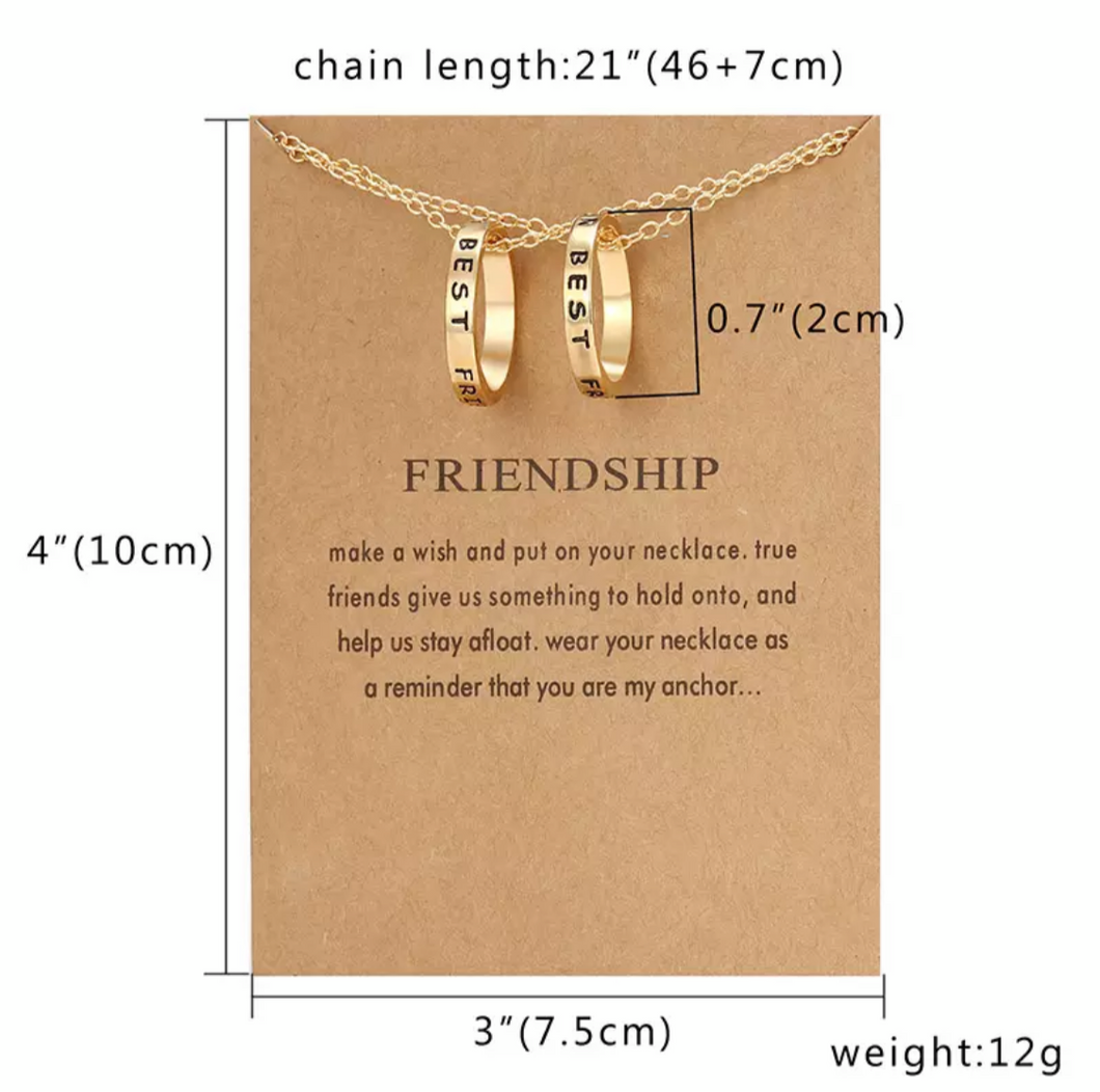 Friendship Ring Necklaces