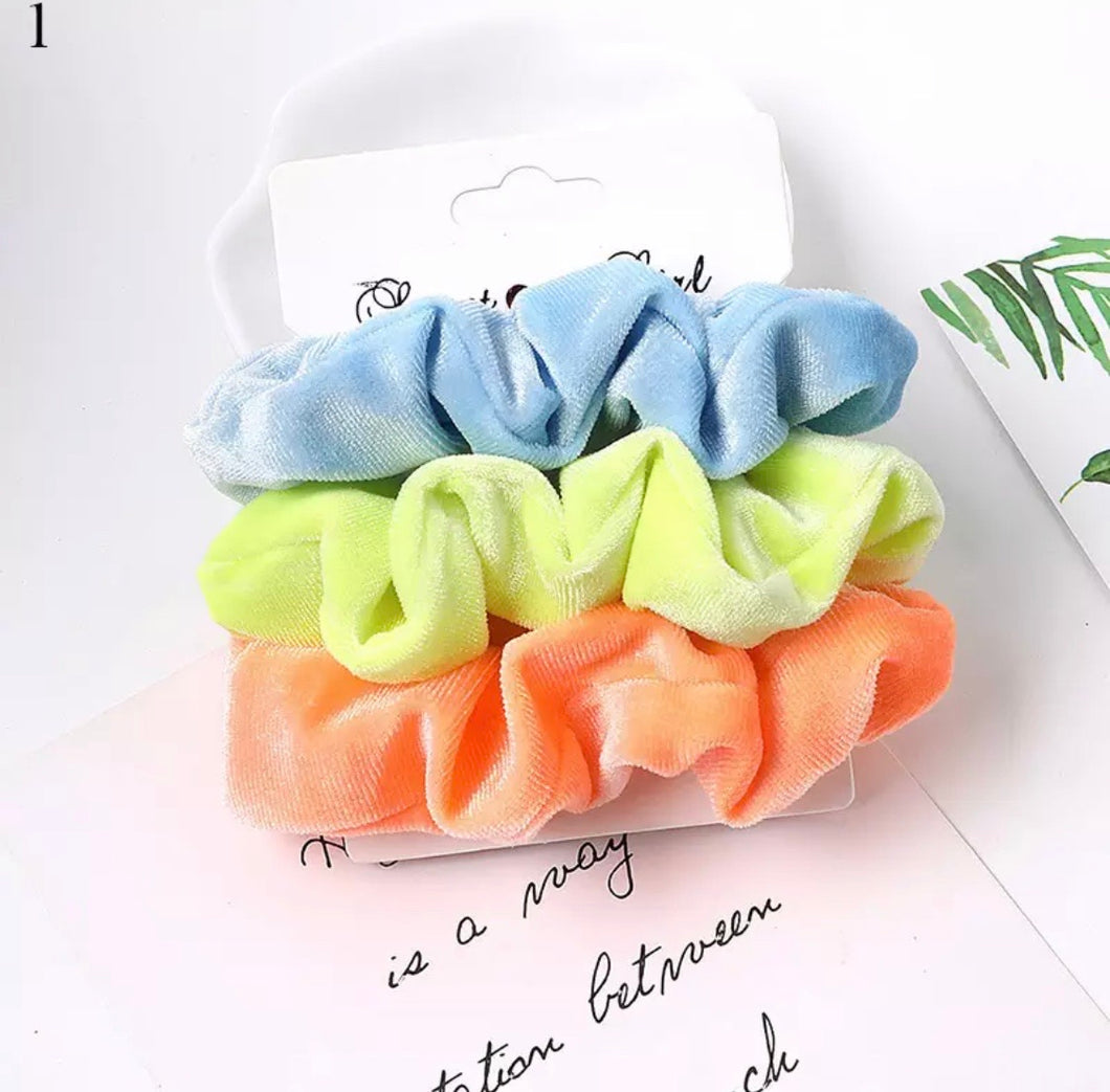 Neon Party Scrunchies