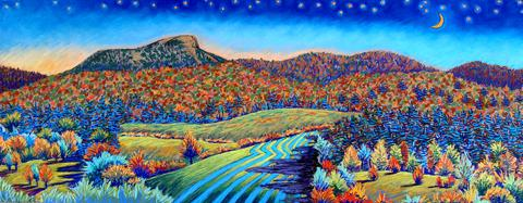 Camels Hump Autumn Moonrise
