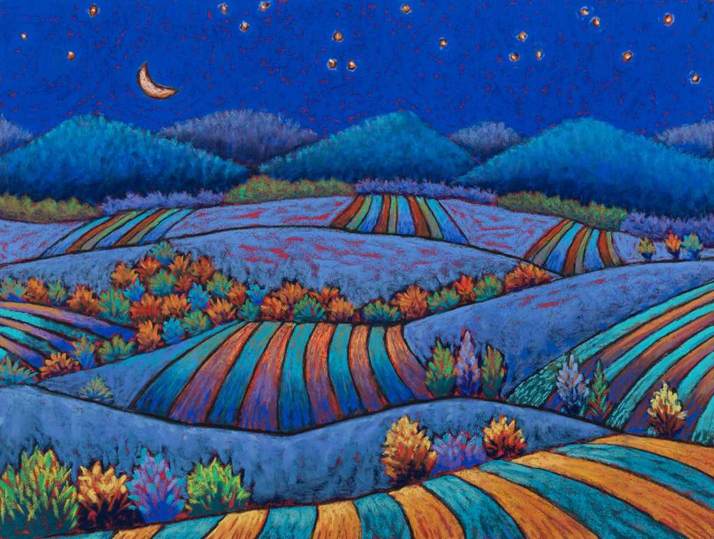 Crescent Moon and Fields