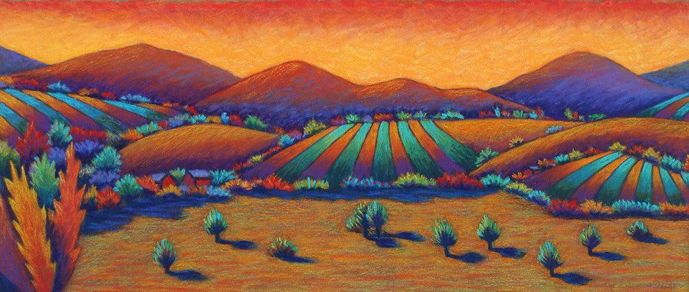 Sunset Shadows, original pastel painting by Daryl V. Storrs