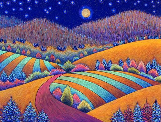 Warm Fields in Full Moonlight