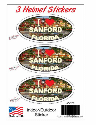 3 Pack Sanford Florida Helmet Sticker SS21 Wholesale