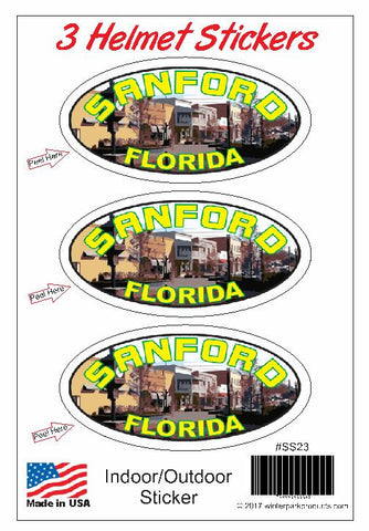 3 Pack Sanford Florida Helmet Sticker SS23 Wholesale