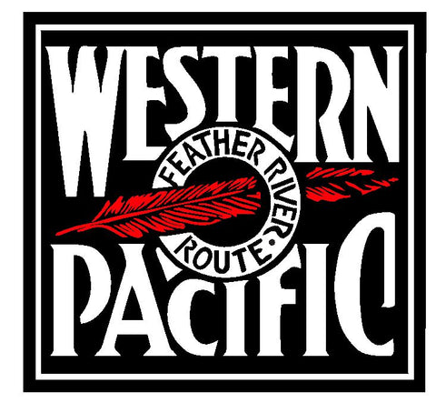 Western Pacific Railroad Sticker / Decal R4622 Railway Train