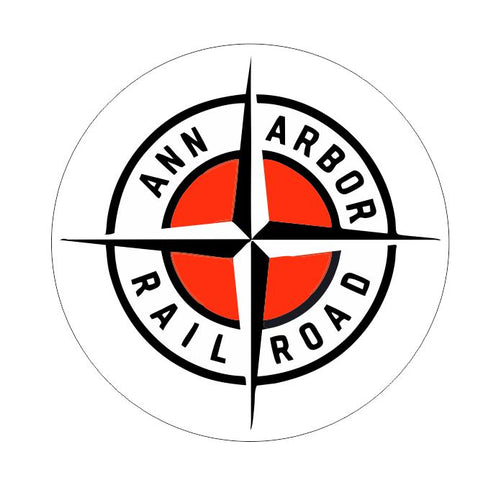 Ann Arbor Railroad Sticker Decal R7012 Railway Train Sign