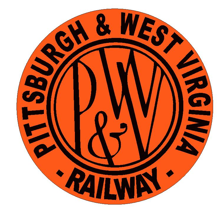 Pittsburgh & West Virginia Railway Sticker / Decal R4632 Railroad Train