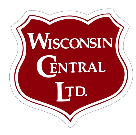 Wisconsin Central Railroad Sticker Decal R7004 Railway Train Sign