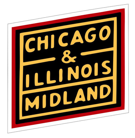 Chicago & Illinois Railway Sticker Decal R6988 Railroad Train Sign