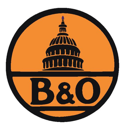 B & O Baltimore & Ohio Railroad Sticker Decal R4905 Railway Train Sign