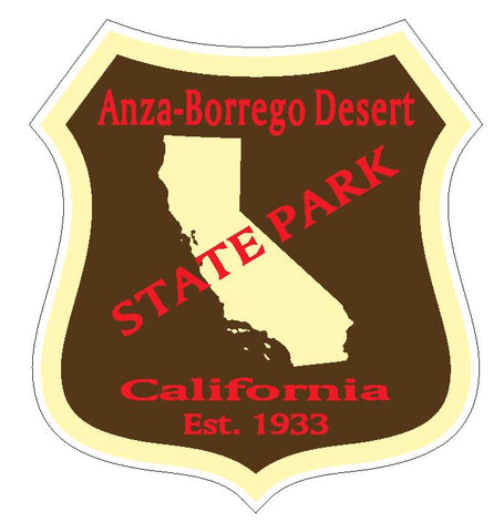 Anza Borrego Desert State Park Sticker R4882 California