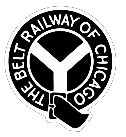 Belt Railway of Chicago Railroad Sticker Decal R6996 Railway Train Sign